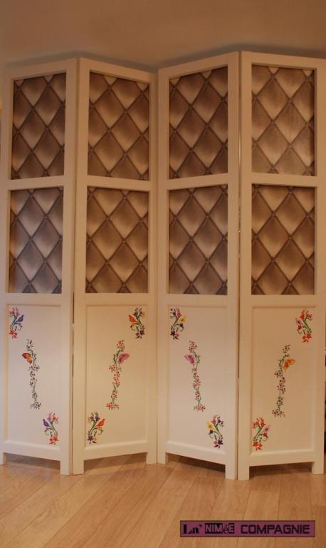 Paravent bois et acrylique