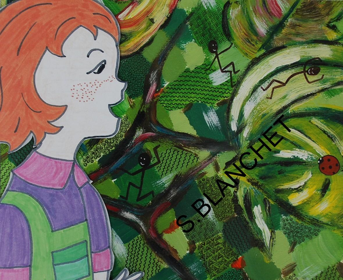 Lilas-Rose, ses pinceaux magiques et les petites créatures