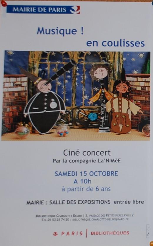 Musique ! ...En coulisses/Affiche Mairie Paris 2ème