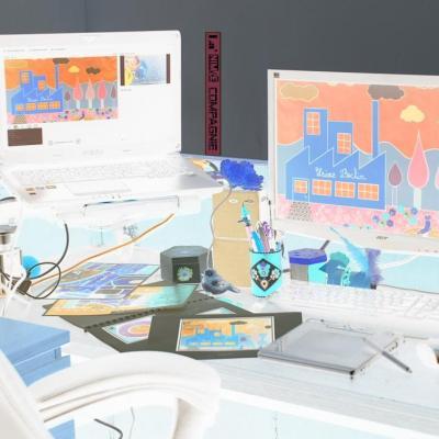 Le studio de création