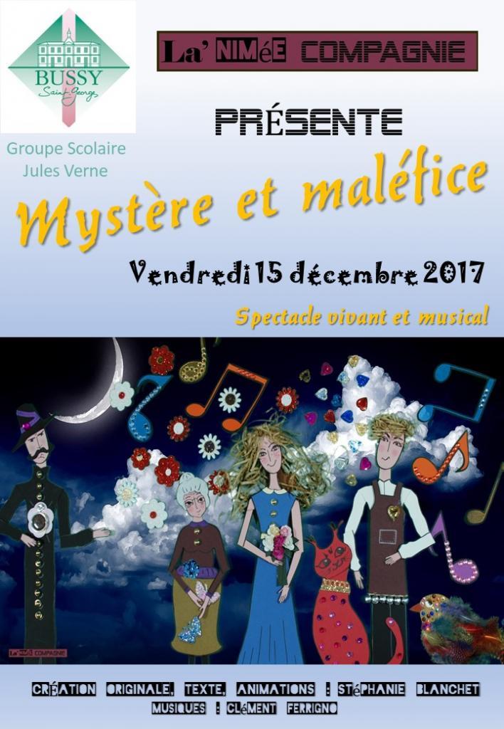 """Affiche """"Mystère et maléfice"""" Jules Verne Décembre 2017"""