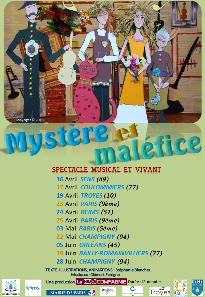 Affiche tournée spectacle