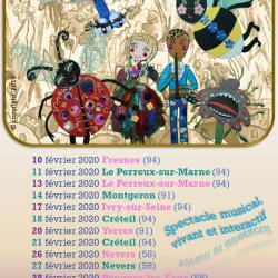 Affiche tournée février 2020