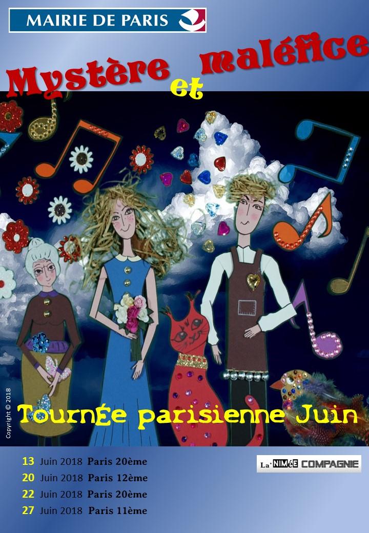 Affiche tournée parisienne juin