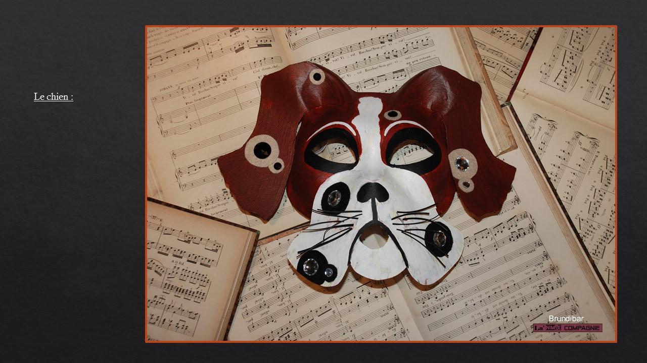 Le chien pour l'opéra intitulé Brundibar