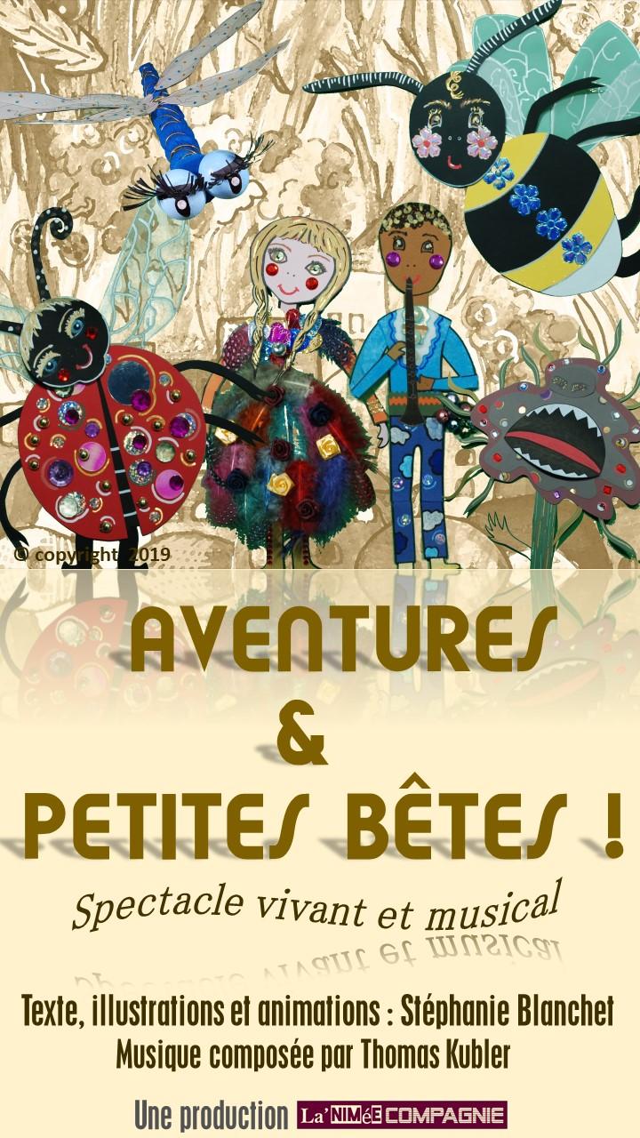 Aventures & Petites Bêtes 2019-2020. Spectacle musical jeune public