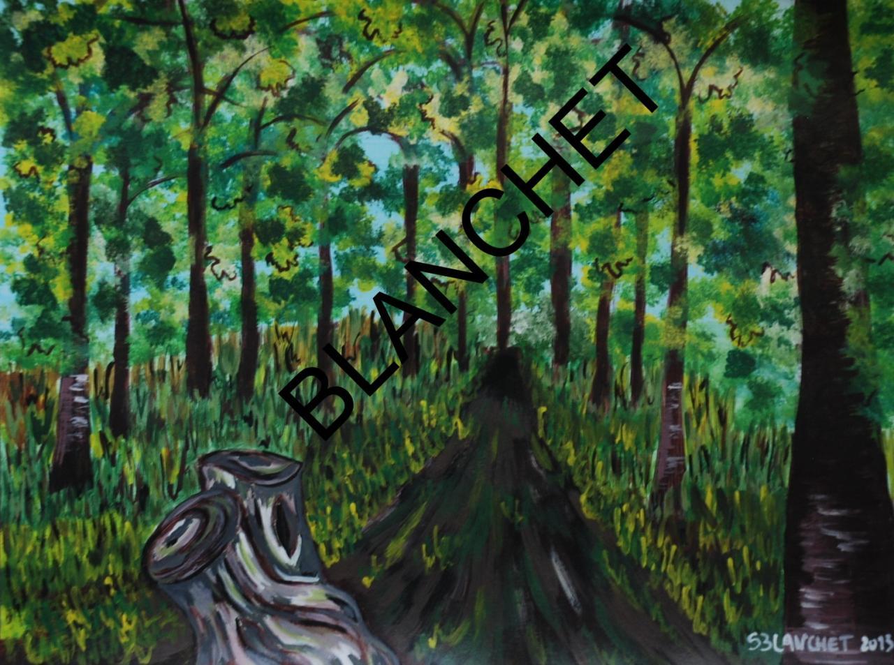 La route aux deux chênes L'entrée dans la forêt (2)