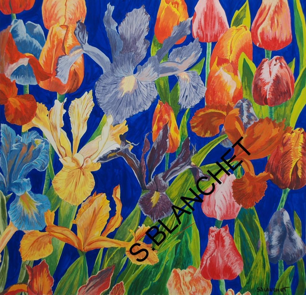 Tulipes et iris